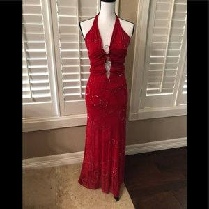 Red evening gown size Sm NWT